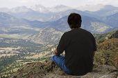 Man On Lily Mountain