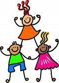 Team of Happy Kids