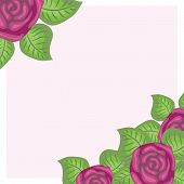 vector background with roses and leaves