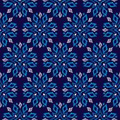 Seamless aztec geometric christmas snow flake winter chrystal decorative background pattern in vecto