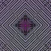 3D Rose Grey Rhomb Pattern