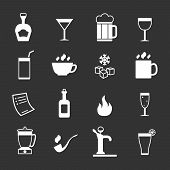 Set Icons Of Bar, Drinks And Beverages