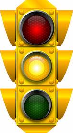 foto of traffic signal  - raster graphic depicting a traffic light  - JPG