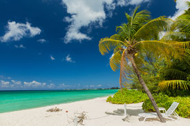 stock photo of mile  - 7 mile beach in Grand Cayman - JPG