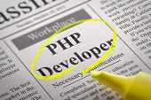 PHP Developer Vacancy in Newspaper.