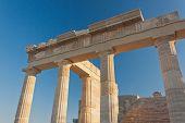 Columns of ?ncient ?reek acropolis