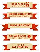 image of year end sale  - Collection of two color valentines day and year end sale banners with text and graphics - JPG