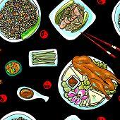 foto of chinese food  - beautiful hand - JPG
