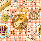 beautiful hand-draw simpless pattern baking