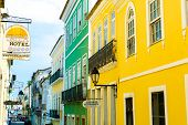 BAHIA, BRAZIL - CIRCA NOV 2014: Pelourinho, the famous Historic Centre of Salvador, Bahia in Brazil.