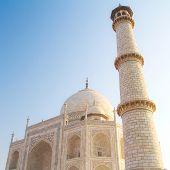 Minaret of Taj Mahal, Agra, Uttar Pradesh, India