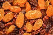 Raisin Dried Grape As Background Texture