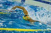 Milan - December  23:  M. Schirru  (italy)  Performing Freestyle  In  Swimming Meeting Brema Cup On