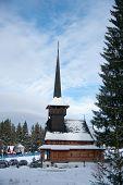 Winter Church In Romania