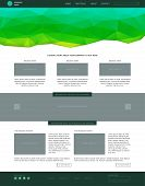 Website template. Modern flat style with green banner.