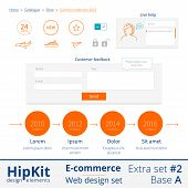 E-commerce web design elements extra set 2