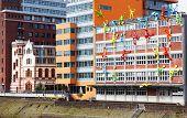 Modern architecture Dusseldorf Germany