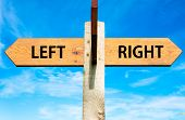 Left versus Right messages