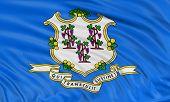 3D Connecticut Flag