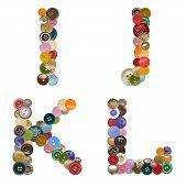 Alphabet of buttons