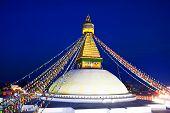 Boudhanath Stupa in the Kathmandu valley, Nepal