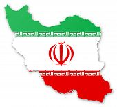 Map And Flag Of Iran