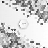 picture of hexagon pattern  - Geometric background - JPG