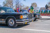 Soviet luxury cars ZIL-41047 and GAZ-14 Chaika