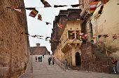 Jodhpur, India - January 1, 2015: Tourist Visit Mehrangarh Fort On January 1, 2015 In Jodhpur, India