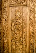 Wooden sacred icon