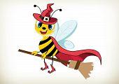 Trcik Or Treat-halloween Witch Bee