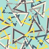 Unreal Geometrical Triangles Seamless Pattern