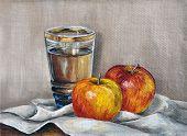 Manzanas y jugo