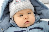 Child Portrait In Winter Overall