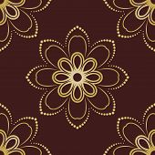 Floral Seamless Vector Pattern. Orient Abstract Floral Background
