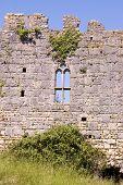 Castle ruin window