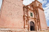 foto of conquistadors  - Fascade of Santiago de Pupuka Church in Pukara Peru - JPG