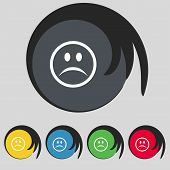picture of sadness  - Sad face Sadness depression icon sign - JPG