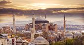 stock photo of constantinople  - Hagia Sophia in Istanbul - JPG