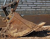 foto of ladle  - ladle of an excavator at a construction site - JPG