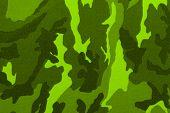 Patrón de camuflaje verde