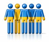 picture of sweden flag  - Flag of Sweden on stick figure  - JPG