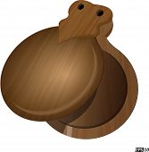 image of castanets  - Castanet musical instrument created in vector illustration - JPG