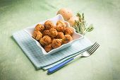 image of meatball  - potatoes meatballs - JPG