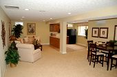 picture of basement  - nicey decorated full finished basement in a luxury home - JPG