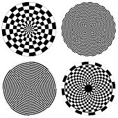 Checkerboard Spirals, Dartboard