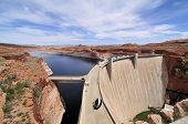 stock photo of dam  - The Glen Canyon - JPG