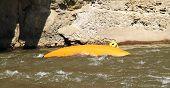 foto of raft  - White water rafting kayaking competition - JPG