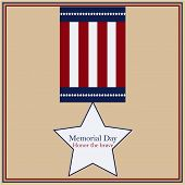 foto of memorial  - Colored background with text and elements for memorial day - JPG