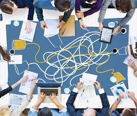foto of telecommunications equipment  - Communicate Communication Telecommunication Connection Calling Concept - JPG